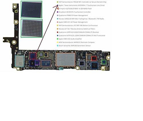 343S0694U2402nero touch screen digitizer & controller chip IC per iPhone 6/iPhone 6Plus