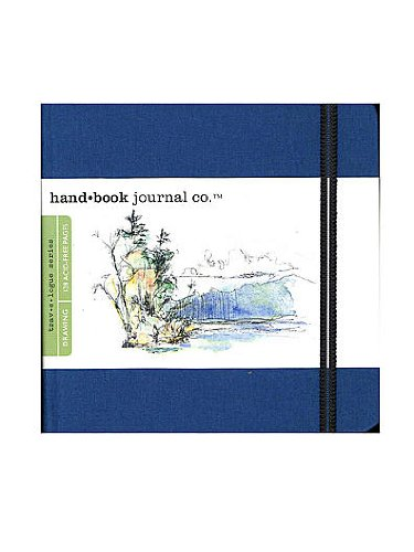 Hand Book Journal Co. Travelogue Drawing Journals 5 1/2 in. x 5 1/2 in. square ultramarine blue [PACK OF 2 ]