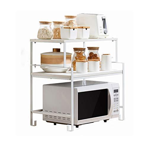 Soporte para microondas de Cocina, Estante de Almacenamiento de Acero al Carbono, Soporte de Piso, Estante para Suministros de Cocina, Organizador de mostrador de Cocina,B