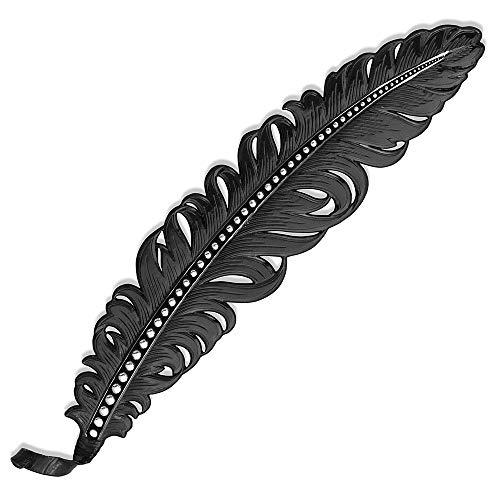 Montana Silversmiths Hand Painted Hat Feather (Gunmetal Finish - Black Vane)