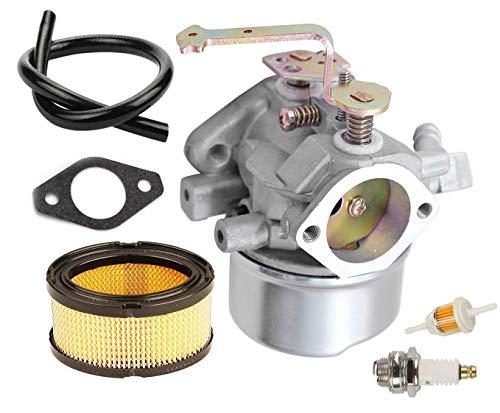 LEIMO 640152 Carburetor kit Including 33268 Air Filter+ Spark Plug for Tecumseh 640152A 640023 640051 640140 640152 HM80 HM90 HM100 8-10 HP Engine Snow Blower Mower 5000w Generator
