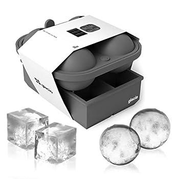 glacio Ice Cube Molds - Big Cubes & Large Sphere Ice Mold Set