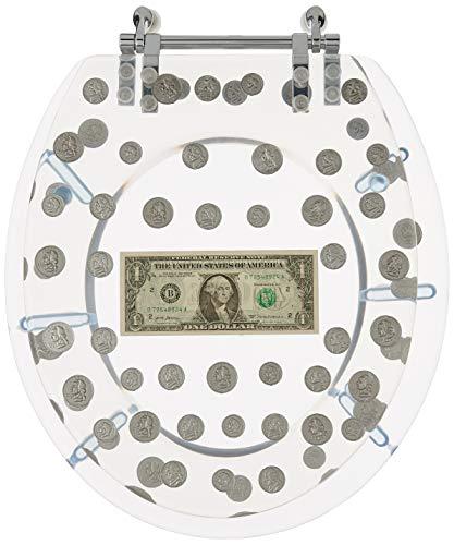 Daniel 's Bath & Beyond Polyresin rund WC-Sitz mit Dollar und Münzen, 43,2cm