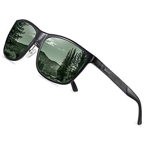 DUCO Rechteckigen polarisierten Metallrahmen Sonnenbrille Outdoor-Brille für das fahren 8200 (Grün)