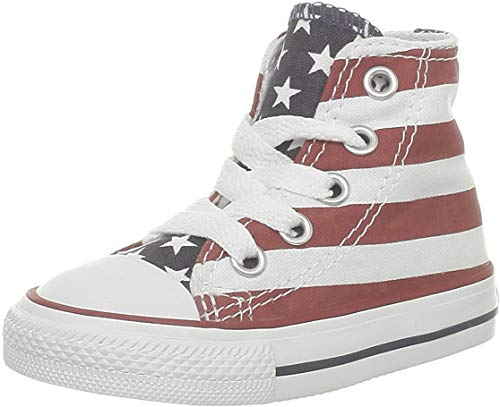 Converse Yths C/T Allstar Hi, Sneaker Unisex – Adulto, Multicolore (Stars&Bars_), 35 EU