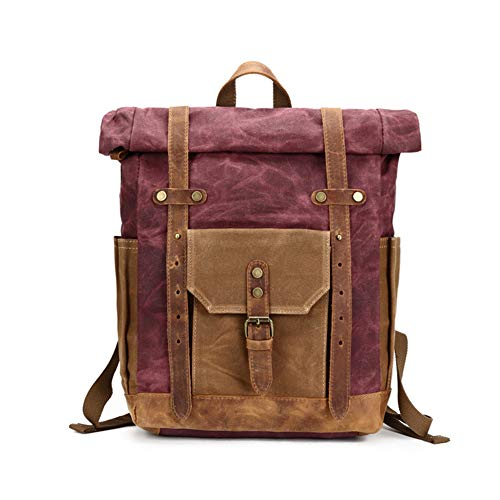 GUMU Vintage Lona Mochila De Bandolera La Bolsa Hombro Messenger Bag Laptop Backpack Mochilas Sport para Hombres Mujer,Purple