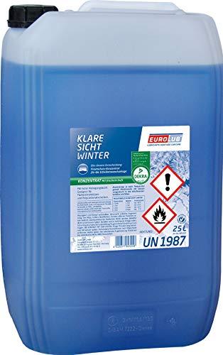 EUROLUB Scheibenfrostschutz KLARE SICHT Winter Konzentrat, 25 Liter