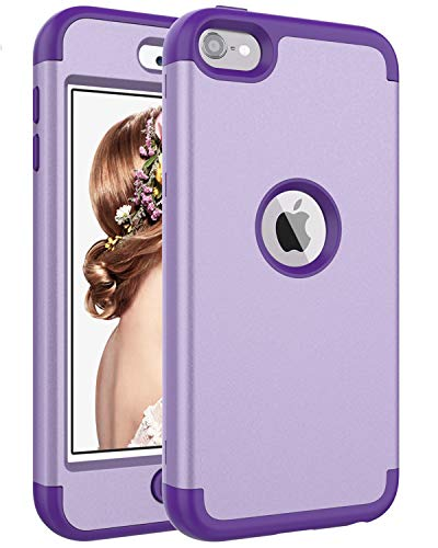 iPod Touch 7 Case,iPod Touch 6 Case,SAVYOU 3 in1 Combo Duty Hybrid Sturdy Armor High Impact Resistant Shockproof Protective Cover Case for Apple iPod Touch7th/6th/5th Generation