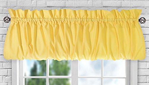 "Ellis Curtain Stacey Sheer Balloon Valance, 60"" x 15"", Yellow"