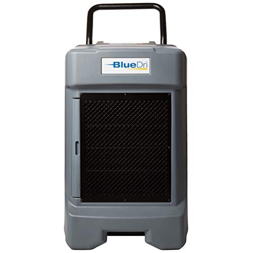 BlueDri BD-130P 225PPD Industrial Water Damage Equipment Commercial Dehumidifier with Hose for Basements in Homes and Job Sites, Gray