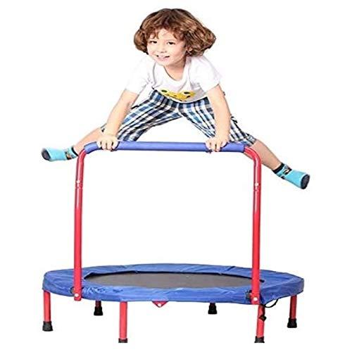 GTYMFH Pequeño Trampolín de los niños, con pasamanos, pequeño trampolín Plegable for Interiores/Exteriores Deporte de Ocio