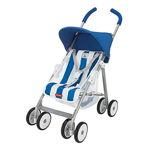 Buggy Maclaren Junior B-01- Imaginación en juego. La silla de paseo de juguete se adapta a muñecas de hasta 46 cm. Bolsa de pañales incluida
