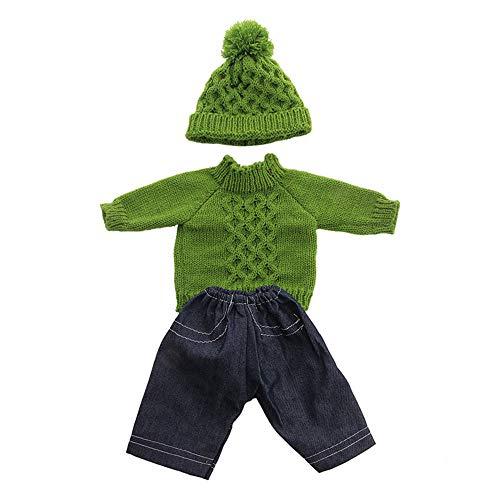 Uteruik Puppenkleidung für 46cm American Girl Doll Casual Outfits - Hut, Pullover und Hose Kostümzubehör, 3tlg