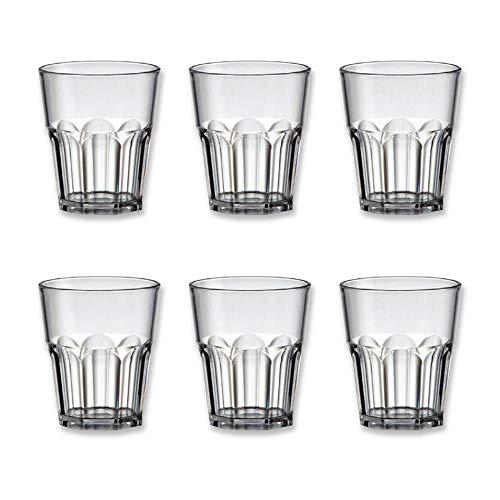 Cartaffini - Juego de 6 vasos de chupito de san, capacidad al borde, 5 cl, color transparente