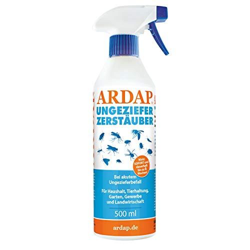 ARDAP Zerstäuber 500ml - Wirkungsvolles Insektizid gegen Fliegen, Schädlinge oder Lästlinge - Pumpspray für Zuhause oder in unmittelbarer Nähe von Tieren