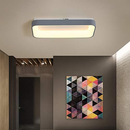 5151BuyWorld Lamp Lamp met afstandsbediening, rechthoekig, modern, LED, voor slaapkamer, woonkamer, voor wit/grijs, dimbaar, grijs