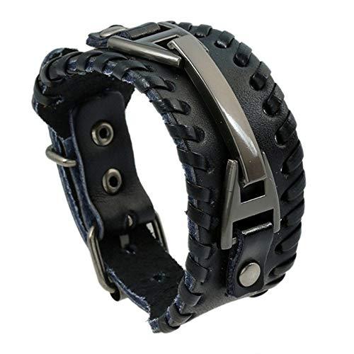 CAIRLEE Vintage Armband verstellbares geflochtenes breites Lederarmband für Männer