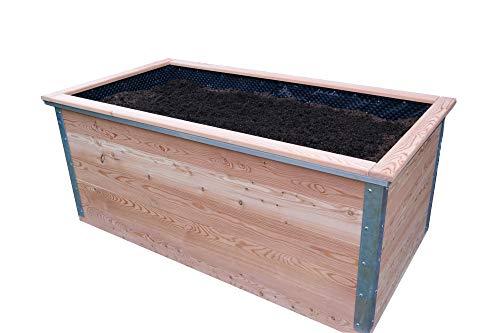 bio-garten Hochbeet aus Lärchenholz/Komplett Paket / 100 x 200 cm, Höhe 84 cm/Leichter Aufbau - TOP Qualität