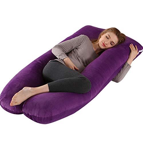 ZYYYYY Almohada de Embarazo para Dormir para Maternidad Lactancia Materna para Dormir Cuerpo Embarazada en Forma de U Almohadas de Maternidad Embarazo Durmientes Laterales (Color : Purple)