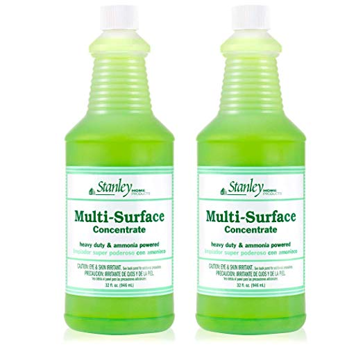 Stanley Home Products Premium Multi-Surface Concentrate - Professional All-Purpose Floor, Countertop & Tile Cleaner for Cleaning Vinyl, Ceramic and Grout (2 Pack)