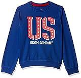 US Polo Association Boy's Cotton Sweatshirt (UKSS5286 Dk Blue 9-10 Years)