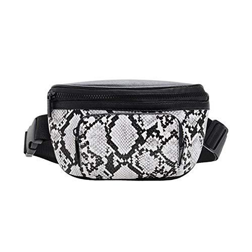PLTyfsail Women Waist Shoulder Crossbody Bag Snake Print PU Leather for Mobile Phone Money
