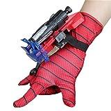 TYTOGE Spiderman Gloves Web Shooter para niños, Guantes de superhéroe con Lanzador de eyección de muñeca Cosplay Super Spiderman Accesorios de Vestuario Avengers Wrist Launcher
