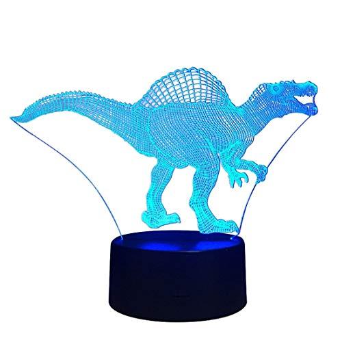 Modern nachtlampje bewegende LED-nachtlampje draadloze noten verlichting lampen binnen batterij tafellamp voor kinderkamer, hal slaapkamer katoen dinosaurus nachtkastje nachtlampje woonkamer
