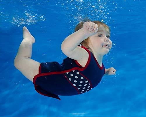 Die original Konfidence Unisex-Kinder Schwimmweste,  Mehrfarbig (Nautical Wave), 4-5 Jahre