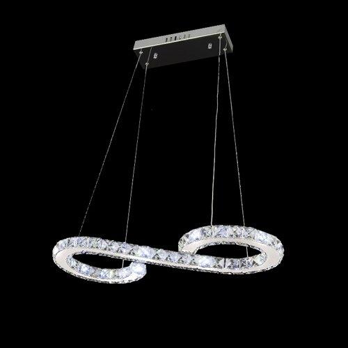 LightInTheBox - Lámpara de techo colgante con bombilla LED incluida, minimalista y moderna chapada en metal, montaje empotrado, lámpara de araña de luz colgante, voltaje = 110 – 120 V