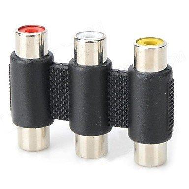 LWW 3 x RCA hembra a 3 x RCA hembra adaptador del envío-libre