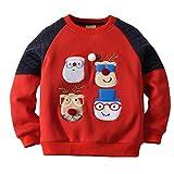 Sudaderas para Navidad Bebé Camisetas de Manga Larga Pull-Over Papá Noel Sweatshirt, Azul Real 12-18 Meses
