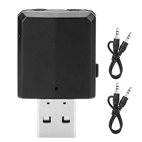 Receptor Transmisor USB Bluetooth 5.0, ZF169PLUS Adaptador de Audio 3 en 1 para TV/PC/Coche