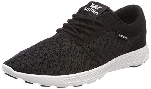 Supra Herren Hammer Run Sneaker, Schwarz (Black/LT Grey-White), 42 EU