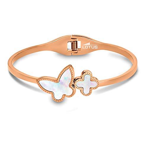 Lotus Style JLS1793-2-2 - Pulsera para mujer de acero inoxidable, color oro rosa
