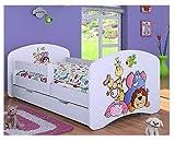 HB Kinderbett mit Matratze und Bettkasten verschiedene Varianten Weiß (160x80 cm, ZOO)