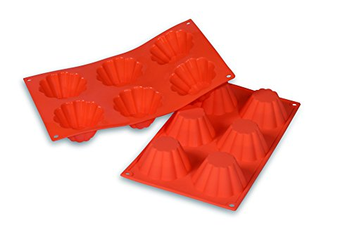 silikomart 21.034.71.0060 Moule en Silicone, Orange, 3 x 30,5 x 25,5 cm