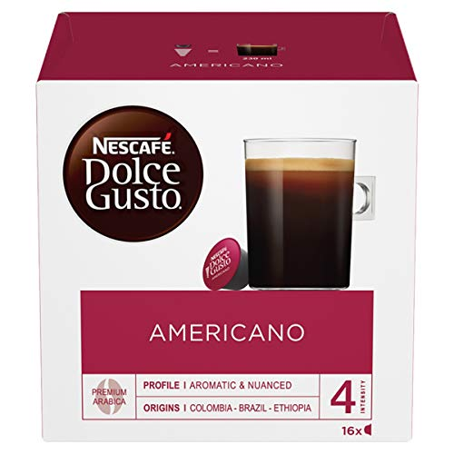 NESCAF? Dolce Gusto Caff? Americano, Pack of 3 (Total 48 Capsules, 48 Servings)