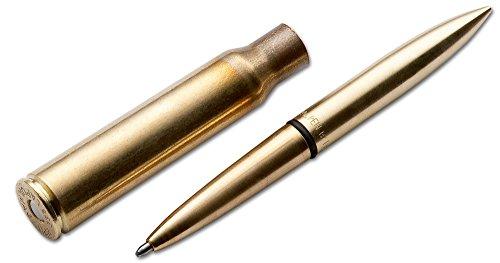 Fisher Space Pen .338 Lapua Magnum Tactical Pen aus massivem Messing in der Farbe Gold