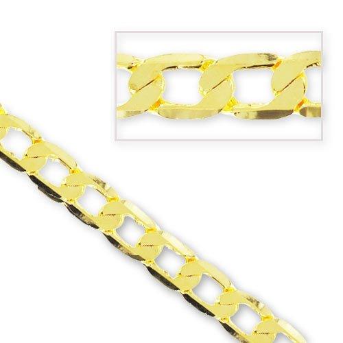 Catena maglia piatta mm. 7,9 dorato x cm. 50