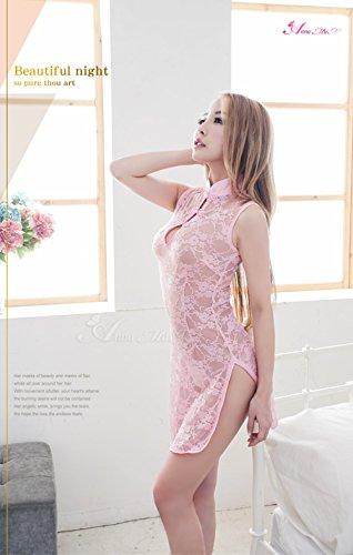『Anna Mu セクシー ミニ チャイナドレス コスプレ コスプレ衣装 コスチューム ピンク レディース z133-11』の6枚目の画像