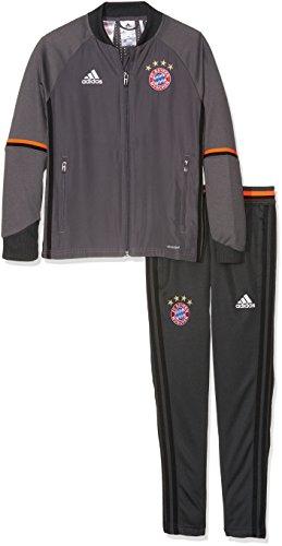 adidas - Fußball-Trainingsanzüge für Jungen in Jacke: Granite/Solar Red Hose: Dgh Solid Grey, Größe 152