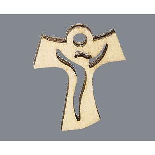 12X CROCE TAO in legno 4 cm MADE IN ITALY decorazione bomboniera