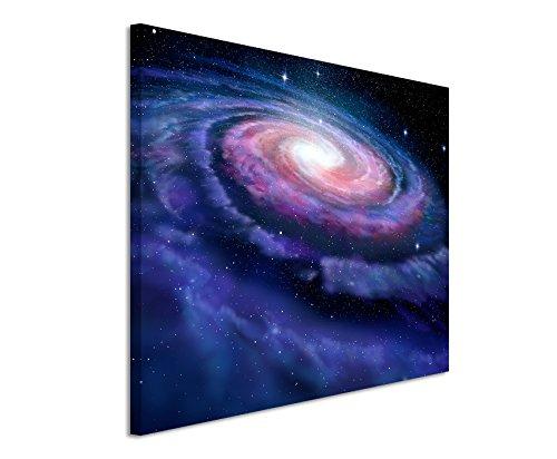 Paul Sinus Art Kunstfoto auf Leinwand 60x40cm Illustration – Spiralförmige Galaxie auf Leinwand Exklusives Wandbild Moderne Fotografie für ihre Wand in vielen Größen