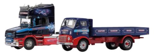 Corgi 1/50 Stan Robinson Commemorative 2 units set (Scania T cab, Maurice 4W Dropside) (japan import)