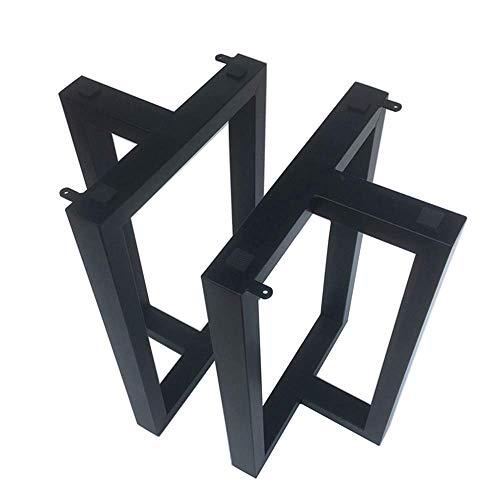 Lefran Möbelbeine aus schwarzem Metall, Tischbeine aus Vierkantrohr im Industriedesign, Höhe 68 cm, Tischbeine aus Schmiedeeisen, DIY-Esstisch,...