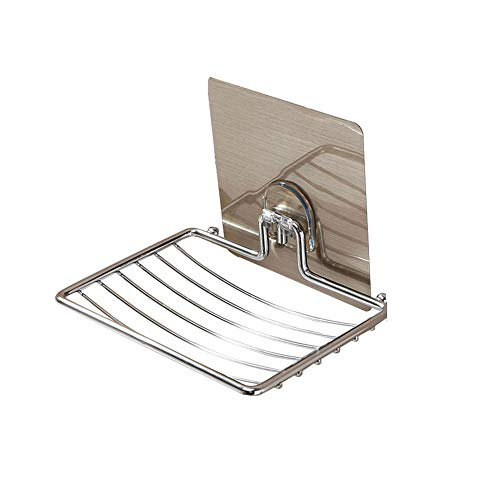 Ghelf Caja de jabón ahuecada con estilo fresco, estante de metal extraíble para cocina, diseño radian, fácil de usar, resistente al agua a prueba de humedad