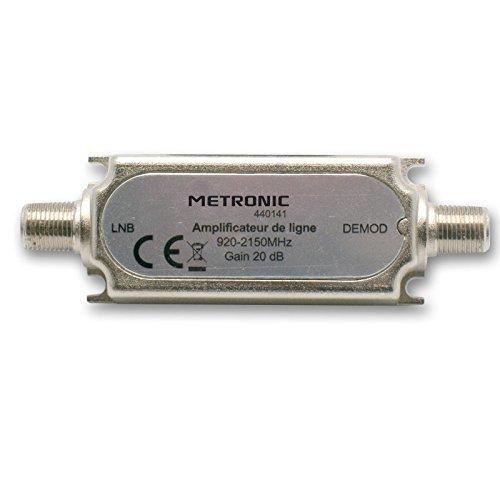 Metronic 440141 - Amplificador de línea, frecuencia: 920-2150 MHz, Color Plateado