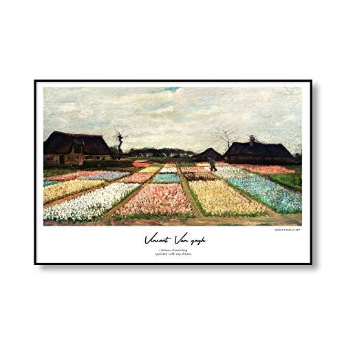 Vincent van Gogh's famoso girasol noche estrellada lienzo arte carteles e impresiones pinturas en lienzo sin marco para el hogar A1 40x60cm