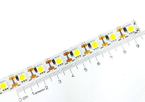 9,5cm 12V IP20 LED 5050 1-Chip Streifen, warmweiß Modellbau, jede LED kürzbar